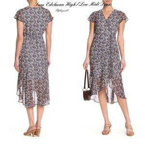 🌷BRAND NEW Sam Edelman Dress Ruched Front Midi BA